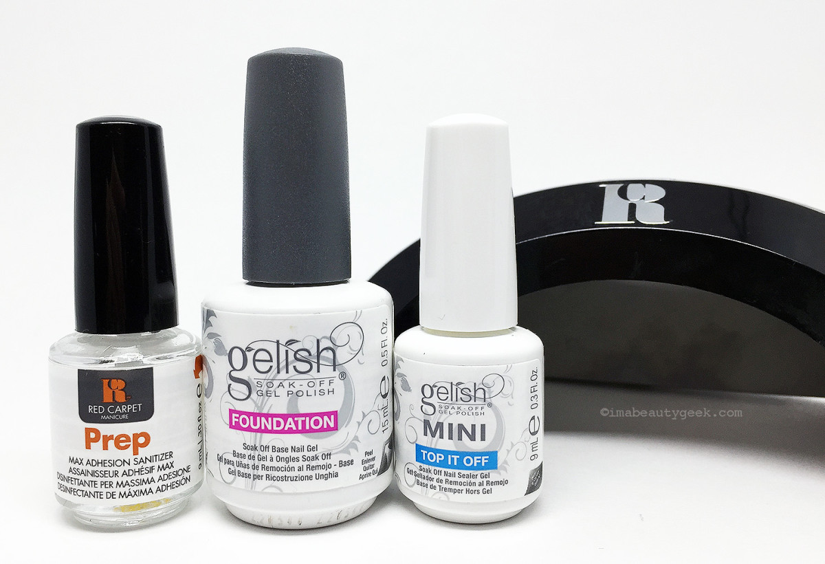 Manigeek S Red Carpet Manicure Prep Gelish Foundation And Top It Off