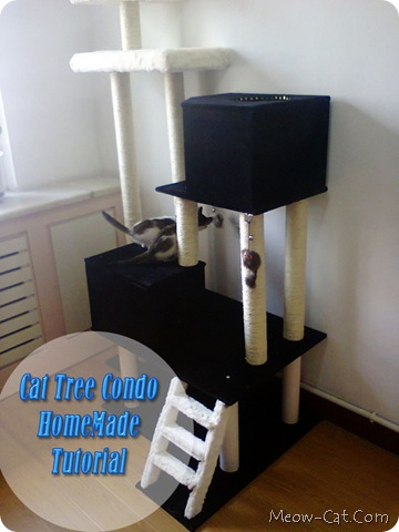Diy cat tree by Meow Cat Blog