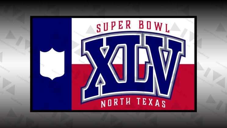 alternate 2011 Super Bowl 45 logo design North Texas: Texas state flag variant
