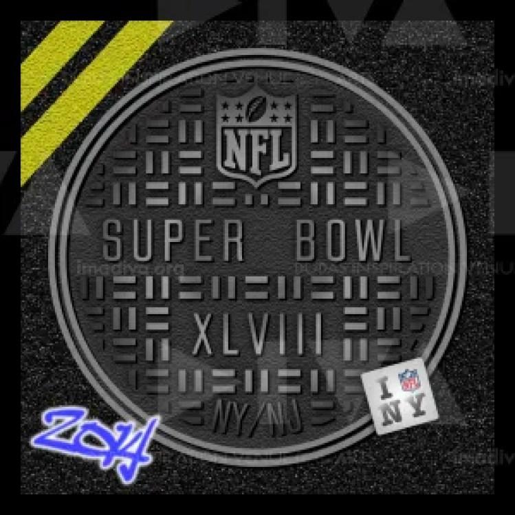 alternate 2014 Super Bowl 48 NY/NJ logo design: sewer access cover