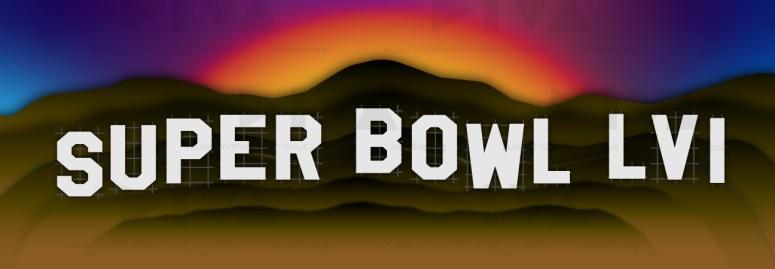 proposed 2022 Super Bowl 56 Los Angeles logo design: Hollywood sign