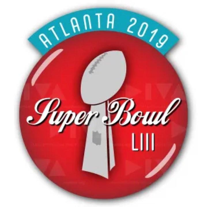 alternate 2019 Super Bowl 53 Atlanta logo design: Coca-Cola