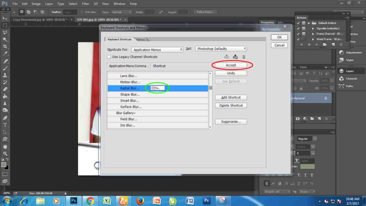 SETTING YOUR KEYBOARD SHORTCUT KEY IN PHOTOSHOP