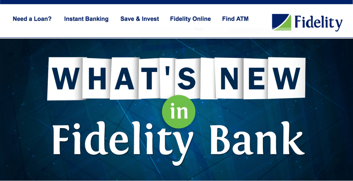Fidelity bank USSD and App Updates