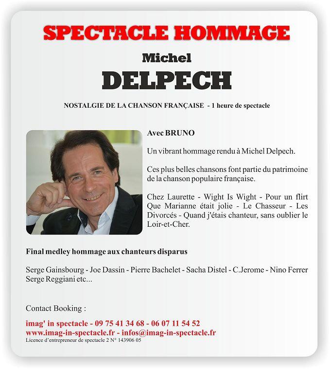 SPECTACLE HOMMAGE à Michel DELPECH