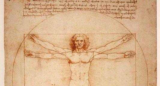 Detalle de el Hombre de Vitruvio, de Da Vinci.