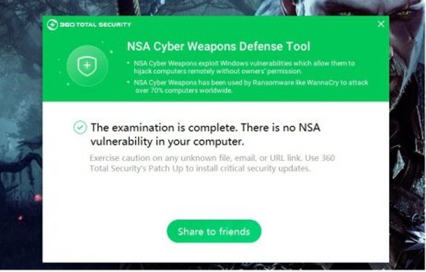 Captura de 360 NSA Cyber Weapons Defense Tool