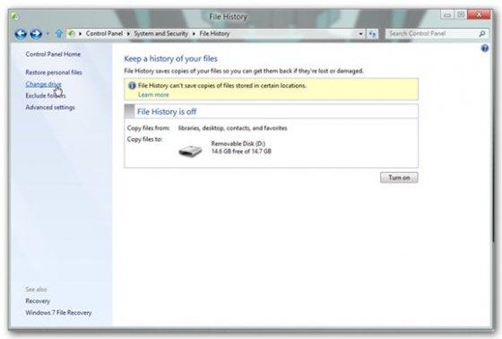 Cómo usar el historial de archivos de W8 - 4