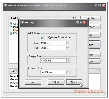 convert in mp4 to mp3