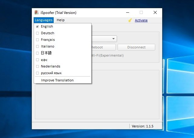 iSpoofer 1.1.5 - Download for PC Free