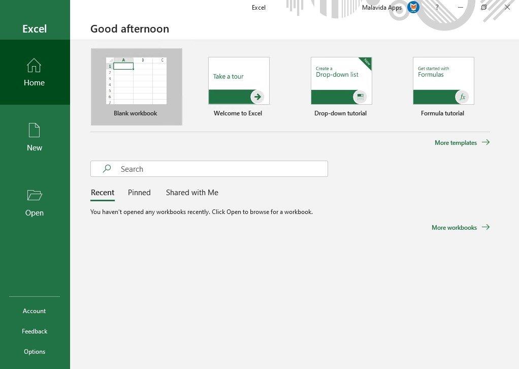 Microsoft Excel 16 0