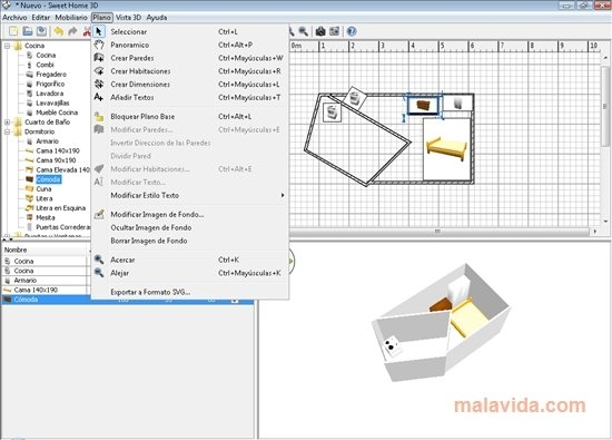 Once you uncompressed this archive in a given folder (on a hard disk or a usb key), you can move this folder or the usb key where you copied it to use sweet home 3d on another computer, without losing software configuration. Sweet Home 3d 6 2 Download For Pc Free