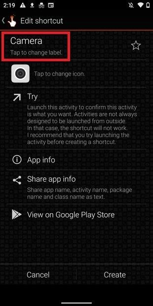 Как скрыть приложения с помощью ярлыков с QuickShortcutMaker