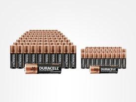 100 AA & 52 AAA Duracell Batteries