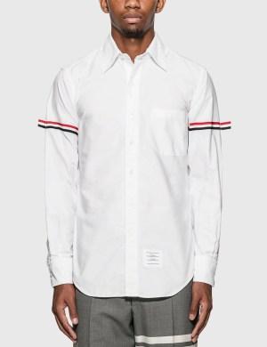 Thom Browne Grosgrain Arm Band Oxford Shirt