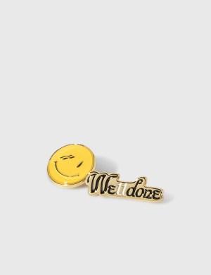 We11done We11done Smile Brooch Set
