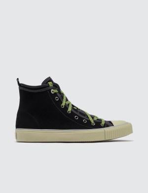 Lanvin Mid Top Sneaker Canvas E Velvet