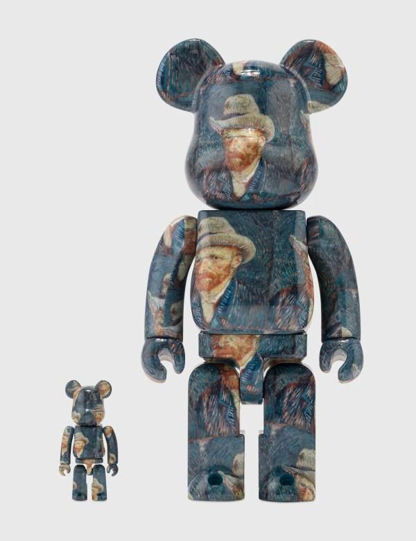 Medicom Toy Be@rbrick Van Gogh Museum Self Portrait 100% & 400% Set
