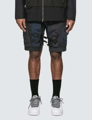 White Mountaineering Mixed Short Pants