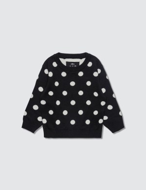 Meme Polka Dots Knit Sweater