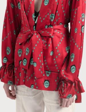 Kirin All Over Masks Fluid Kimono