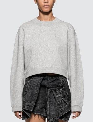 Alexander Wang.T Heavy French Terry Cropped Pullover