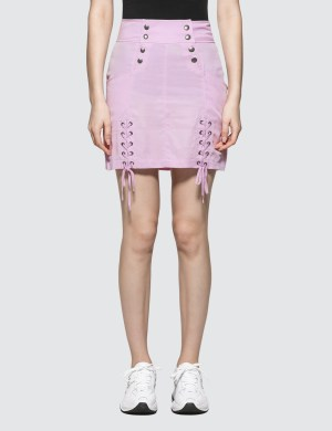 X-Girl Lace-up Mini Skirt