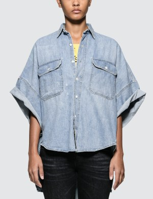 R13 Patti Oversized Short Sleeve Shirt
