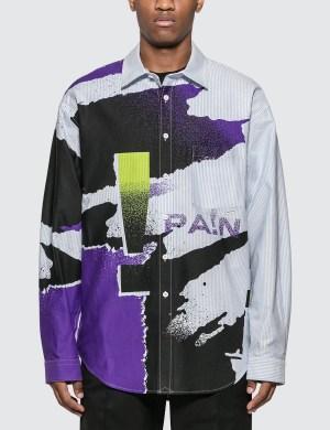 Alexander Wang Oversize Striped Oxford Shirt