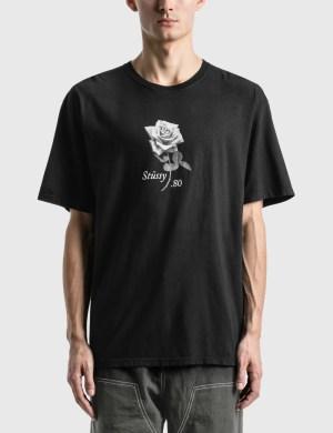 Stussy 80 Rose Pig. Dyed T-Shirt