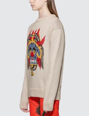 Kirin Haetae Jacquard Knitted Sweater