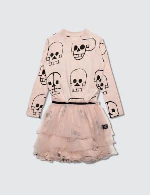 NUNUNU Skull Robot Tulle Dress