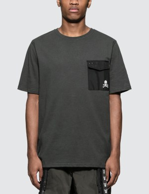 C2H4 Los Angeles C2H4 x Mastermind Japan Skull Print Pocket T-Shirt