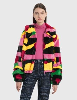 Kirin Flower Wall Fur Zip Jacket