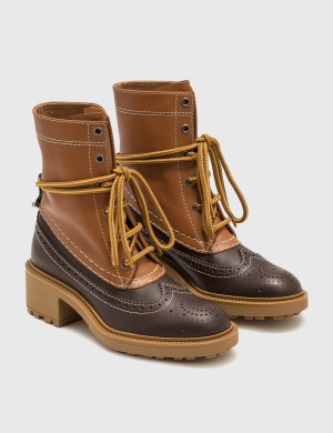 Chlo Franne Bicolor Ankle Boot