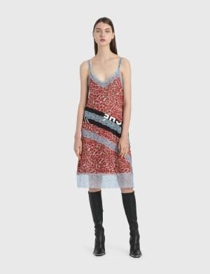 KOCH Leopard Print Slip Dress
