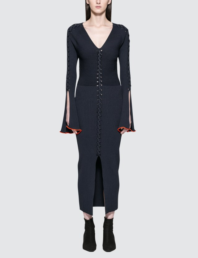 Opening Ceremony Criss Cross L/S Dress