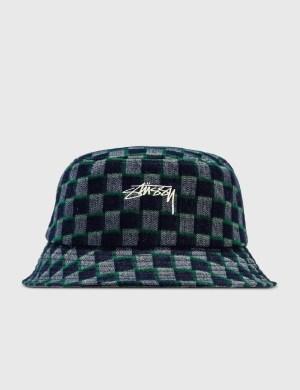 Stussy Brent Check Wool Bucket Hat