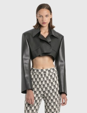We11done Faux Leather Short Jacket