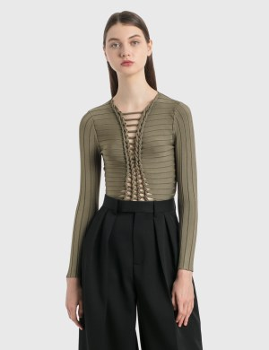 Dion Lee Central Braid Long Sleeve Top