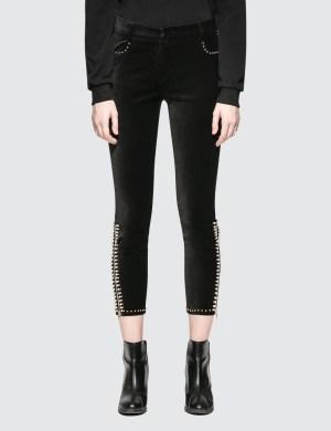 SJYP Beads Detail Velvet Pants