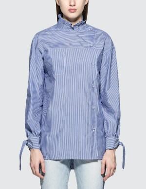 SJYP Stripe Button Blouse
