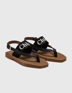 Chlo Woody Flat Sandal