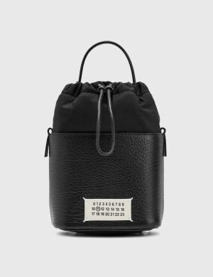 Maison Margiela Textured Leather Bucket Bag
