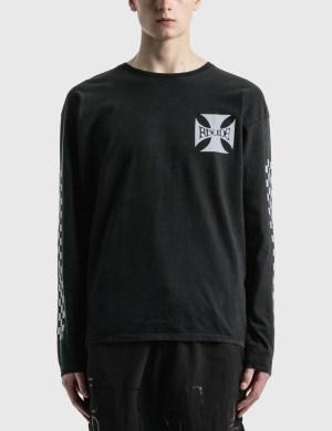 Rhude Classic Checkers Long Sleeve T-Shirt
