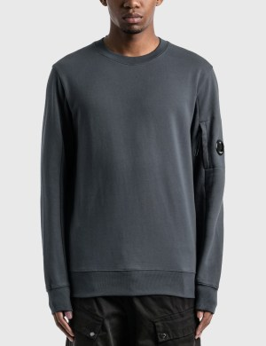 CP Company Diagonal Raised Fleece Lens Crew Sweat