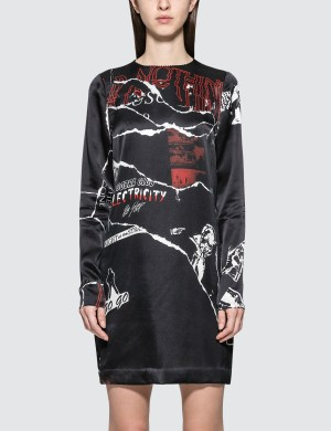 McQ Alexander McQueen Satin L/S Dress