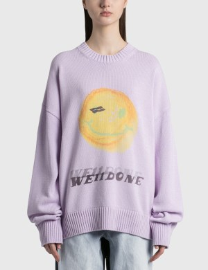We11done Printed Knit Sweater