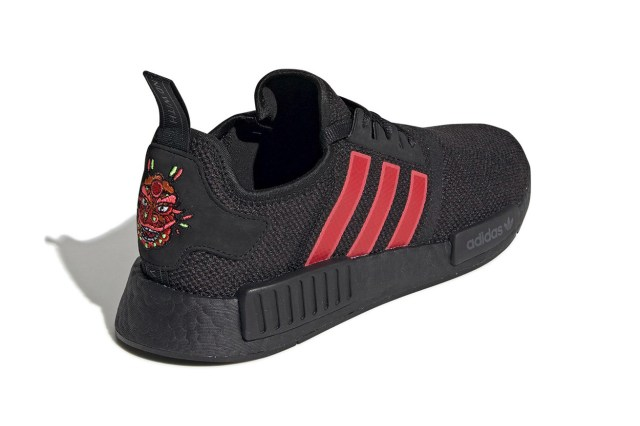 adidas NMD R1 Chinese New Year Release cny celebrations black red year of the pig dragon motif three stripes germany