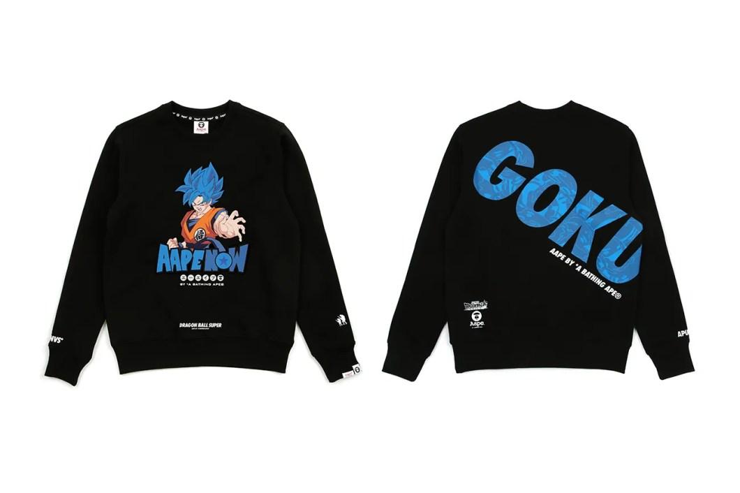 Dragon Ball Super Broly AAPE Capsule Release Info Date Hoodie T shirt white black goku vegeta frieza broly BY A BATHING APE